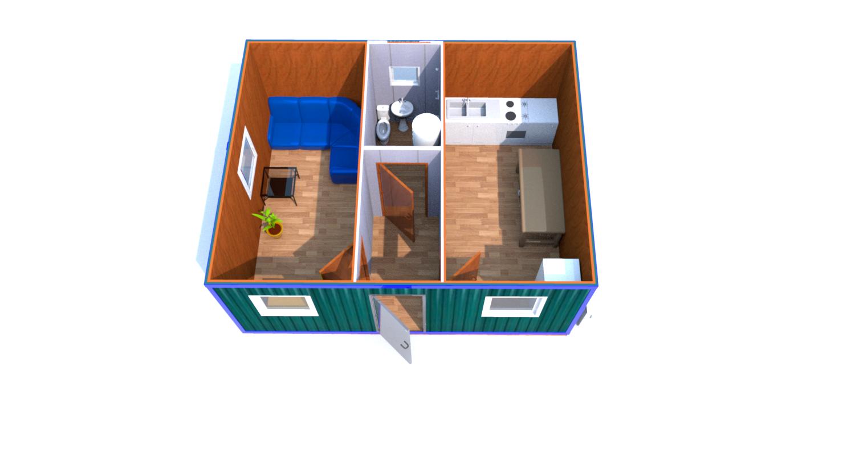 Модульное здание (Д.,Ш.,В.) 6,0*4,8*2,5м.