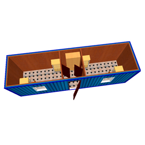 Блок-контейнер 9000 х 2400 х 2500 мм «ОФИСНОЕ ПОМЕЩЕНИЕ»