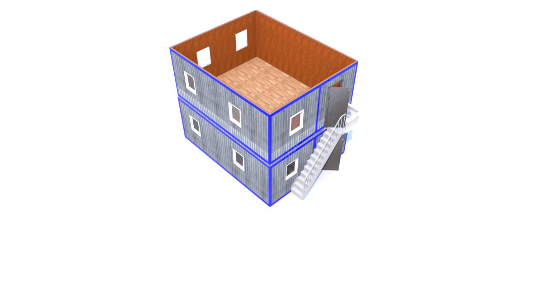 Модульное здание (Д.,Ш.,В.) 6,0*4,8*5,0м.